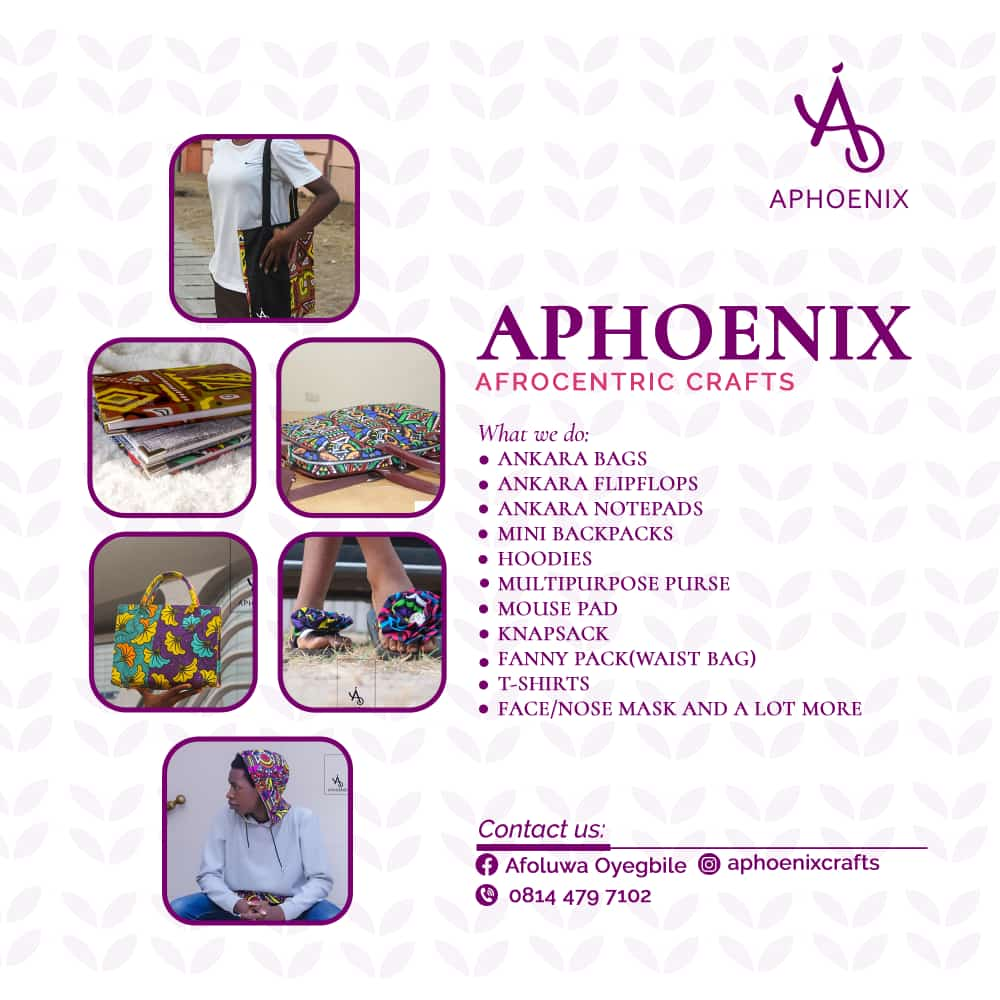 Ad for Aphoenix Afrocentric Crafts on thespiritpen.com