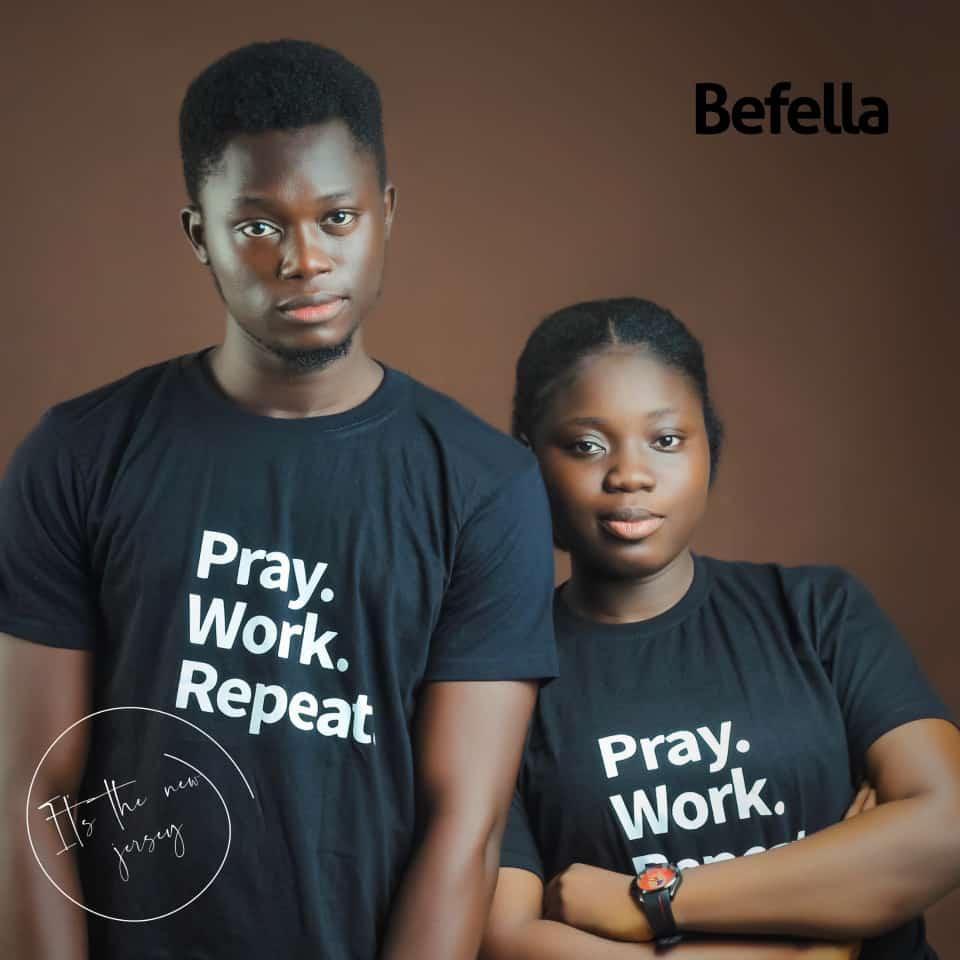 Ad for Befella Christian T-shirts on thespiritpen.com